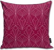 Uliykon Art Deco On Raspberry Pink Throw Pillow