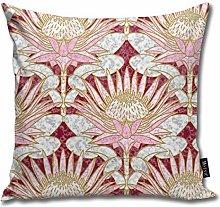 Uliykon Blush King Protea Art Deco (burgundy)