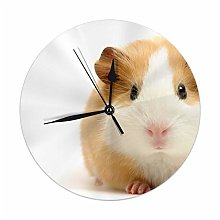 Uliykon Cute Guinea Pig Wall Clock Silent &