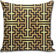 Uliykon Islamic Sayagata Gold Throw Pillow Cushion