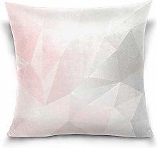Uliykon Pink And Gray Geometric Low Poly