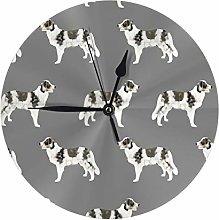 Uliykon Round Wall Clock Border Collie Blue Merle