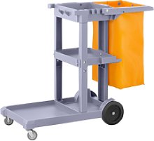 ulsonix Cleaning Trolley with Laundry Bag UNICLEAN