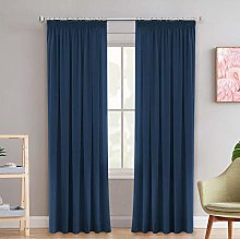 Ultimated Blackout Curtains Solid Navy Thermal