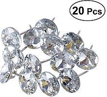 ultnice 20pcs 25mm Rhinestone Crystal Sofa