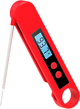 Ultra-fast grill thermometer with backlight and