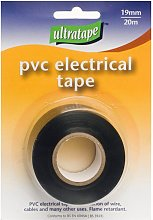 Ultratape PVC Black Electrical Tape Roll (One