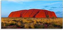 Uluru Art Landscape Orange Blue Canvas Wall Art