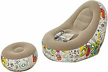 UMBEST Portable Flocking Lounger Chair Blow Up