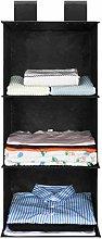 UMI. by Amazon - 3-Shelf Fabric Hanging Shelves