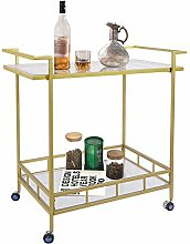 UMI. by Amazon Gold Drinks Kitchen Trolley Serving