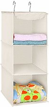 UMI. by Amazon Hanging Storage, 3 Tiers Wardrobe