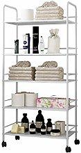UMI. by Amazon Kitchen Storage Trolley Cart,5 Tier