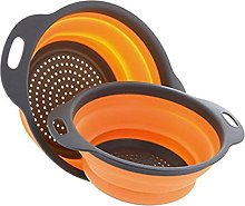 Uminilife 2Pcs Collapsible Colander Vegetable