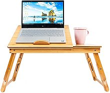 unbrands Foldable Laptop Stand Bamboo Computer