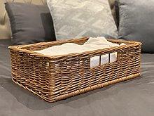Under Bed Storage Basket Blankets Duvets Natural