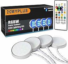 Under Cabinet Lighting, MYPLUS 4 Led Puck Lights
