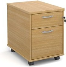 Under Desk Mobile Pedestals, Oak
