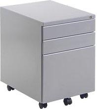 Under Desk Steel Mobile Pedestals, Silver