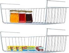 Under Shelf Basket, 2 Pack Stainless Steel Wire