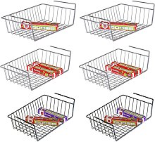 Under shelf basket, 6 pack under shelf organizer,