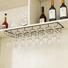 Under Shelf Cupboard Mounted Hanging Wine Rack Glasses Stemware Holder Storage