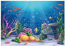 Undersea Picture Waterproof Polyester Material