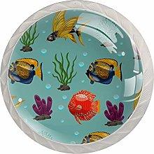 Underwater Animal 4PCS Drawer Knobs,Cabinet