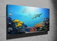 Underwater Coral Reef Photo Canvas Print