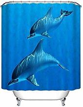 Underwater Dolphin Fabric Shower Curtain Set