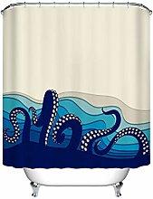 Underwater octopus tentacles FABRIC SHOWER CURTAIN