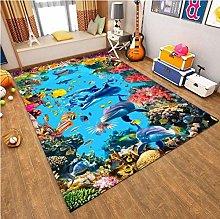 Underwater World Animal Dolphin 3D Printing Carpet