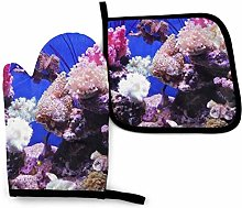Underwater World Coral Oven Mitts and Pot Holders