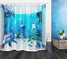 Underwater World Dolphin Jellyfish Fish Waterproof