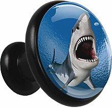 Underwater World Shark Drawer Knobs Glass Cabinet