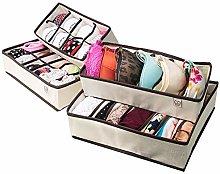 Underwear Sock Drawer Closet Organizer – Set of