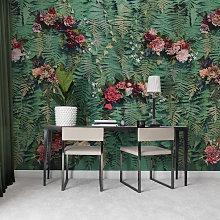 Unfading Flowers Mural Wallpaper (SqM)