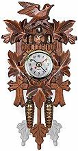 UNFAIR clock Cuckoo Wood Old Clock On Alarm On