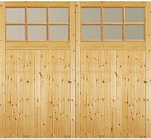 Unfinished Glazed External Garage Door Jeld Wen
