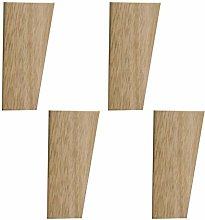 Unfinished Wooden Furniture Legs,Set of 4 Solid