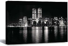 Unframed Canvas Printing Wall Art Twin Towers