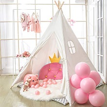 Unho - Large Linen Kids Teepee Tent Childrens