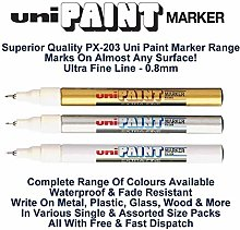 Uni Coloured Extra Fine (0.8mm) PX-203 Assorted