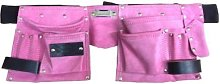 Unibos Pink Leather Tool Belt Double Pouch 11
