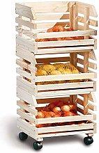 Unibos Wooden Fruit Basket Vegetable Egg Bread