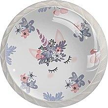 Unicon with Flowers, Cabinet Knob Premium Drawer