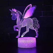 Unicorn 3D Illusion Night Light Win-Y LED Desk