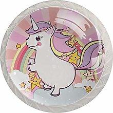 Unicorn Animal Kitchen Cabinet Knobs Glass Knobs
