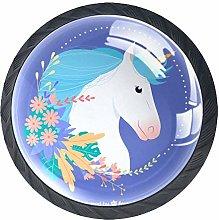 Unicorn Blue Crystal Drawer Handles Furniture