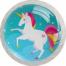 Unicorn Dream White Crystal Drawer Handles